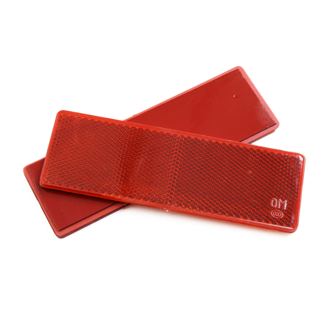 30Pcs Red Plastic Car Vehicle Rectangle Reflector Warning Plate Stickers - image 2 de 3