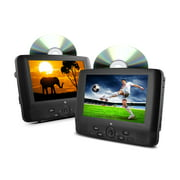"""Ematic ED929D 9"""" Dual Screen Portable DVD Player with Dual DVD Players"""