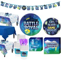 Battle Royal Tableware Supplies for 24 Guests, with Table Covers and More