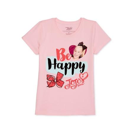 Nickelodeon Jojo Siwa Girls Glitter Graphic T-Shirt, Sizes 6-16
