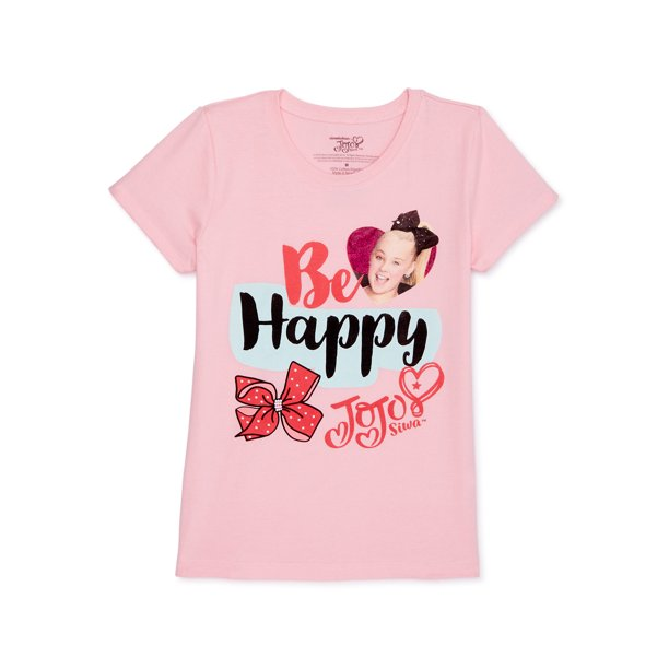Nickelodeon Jojo Siwa Girls Glitter Graphic T-Shirt, Sizes 6-16