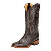 Ferrini Western Boots Womens Teju Lizard Exotic Chocolate 81193-09