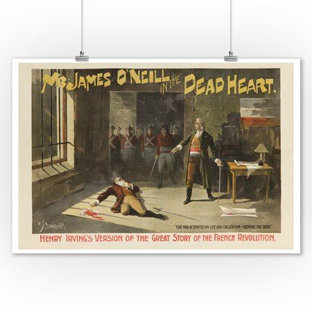 Mr James O'Neill in The Dead Heart Vintage Poster USA c. 1889 (9x12 Art Print, Wall Decor Travel Poster)](Dead Hearts Wedding)