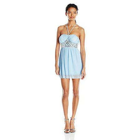 22c1f354248 Speechless - Speechless Juniors Shirred Top Jewel Waist Prom Dress ...