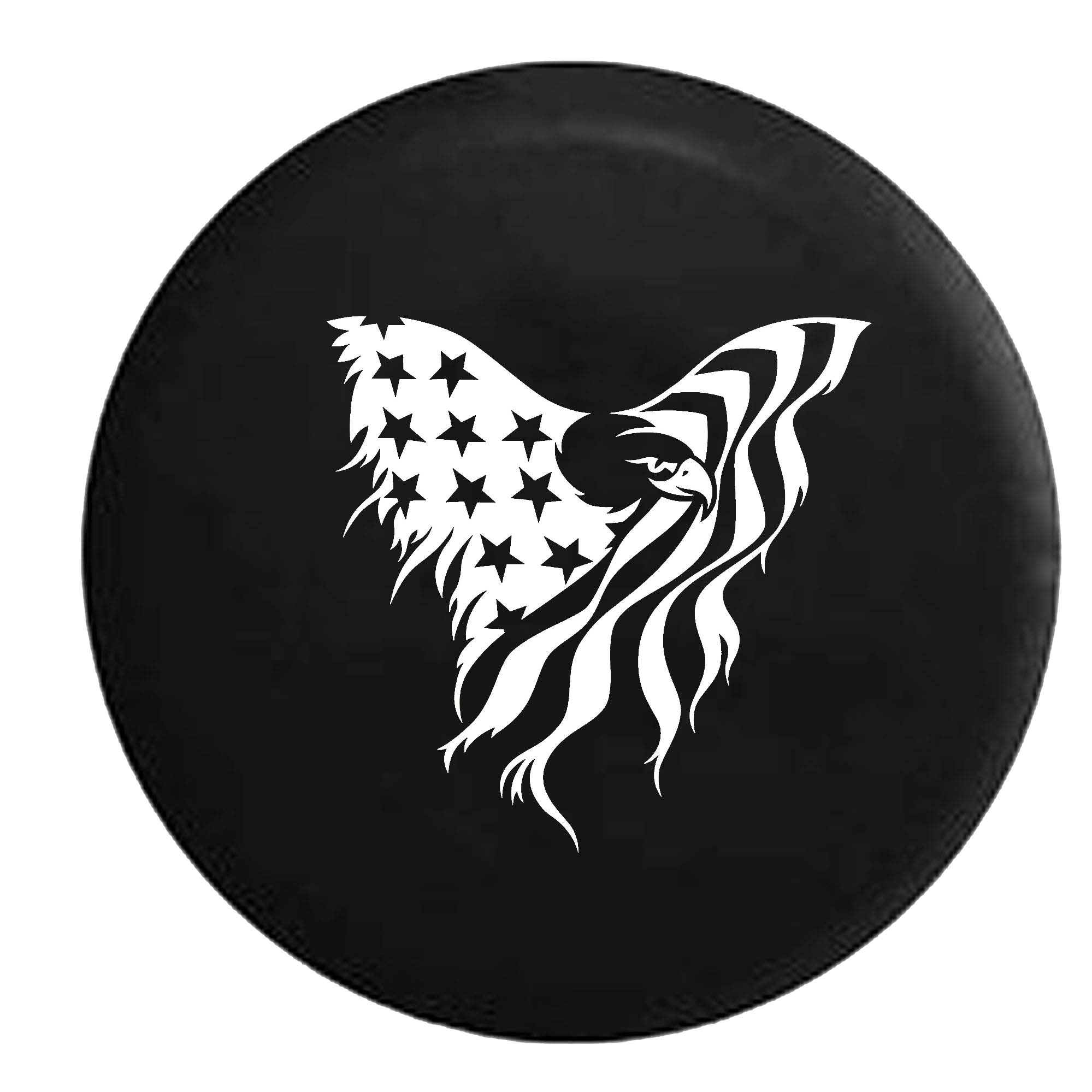 American Bald Eagle Stars and Stripes Flag  Spare Tire Co...