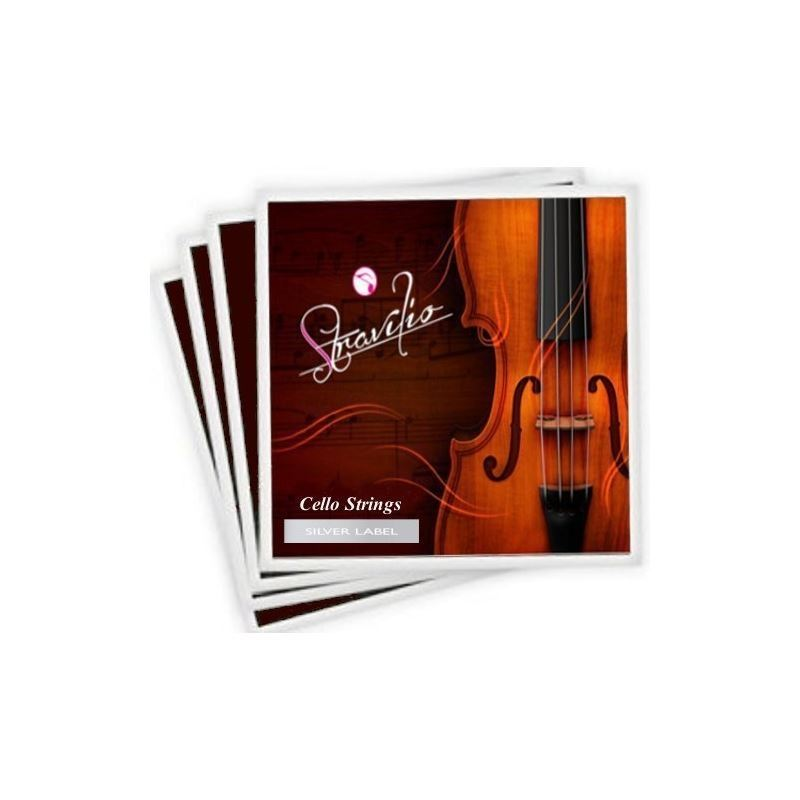 Full Set Of High Quality Cello Strings Size 4 4 3 4 Cello Strings, A D G C -SILVER LABEL by