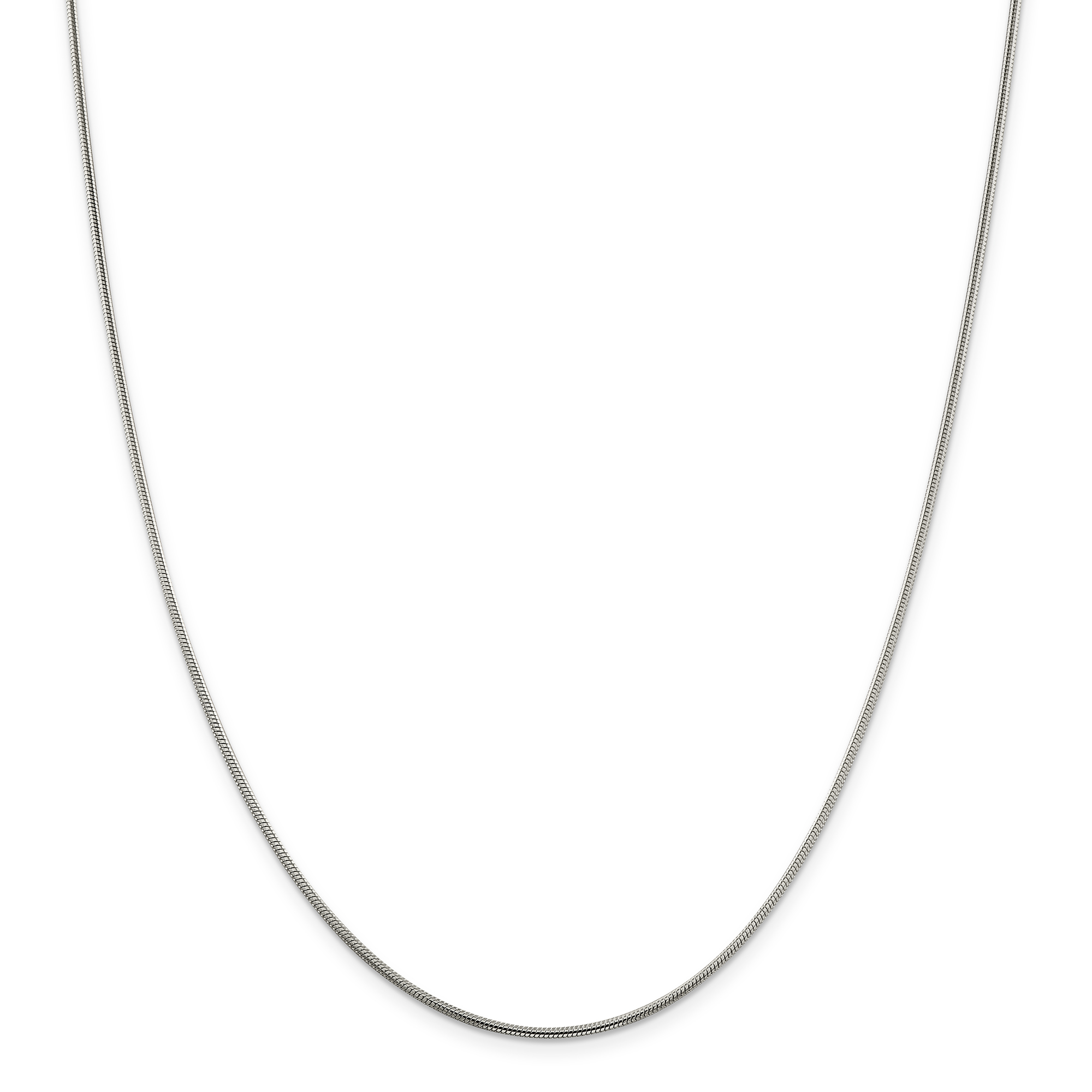 925 Sterling Silver 1.5mm Round Snake Chain 24 Inch - image 5 of 5