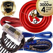 Best BOSS Amp Wiring Kits - Complete 3000W Gravity 4 Gauge Amplifier Installation Wiring Review