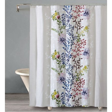 Charlton Home Almaguer Dahlia Cotton Single Shower Curtain
