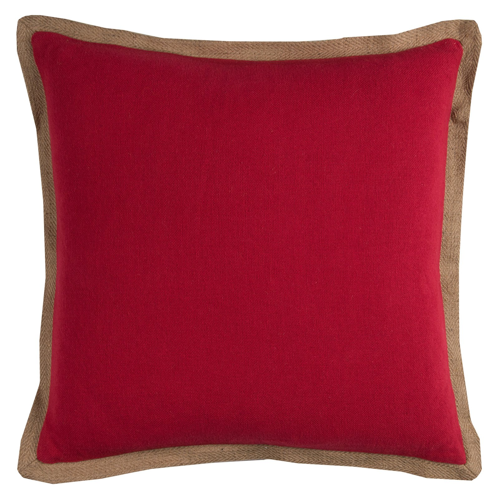 """Rizzy Home Decorative Poly Filled Throw Pillow Solid 22""""X22"""" Red"""