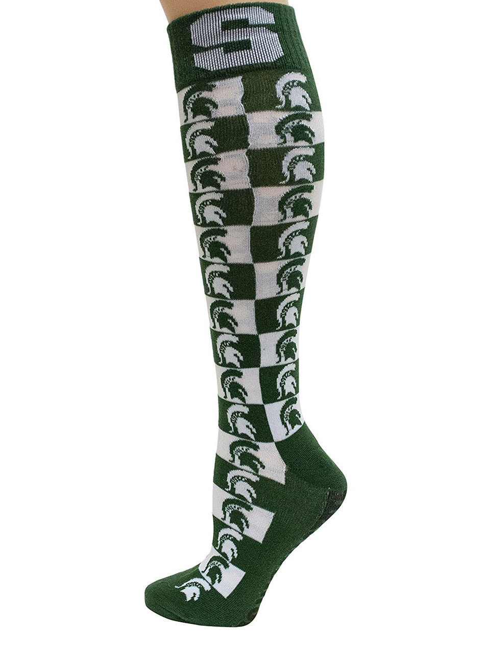 Michigan State Spartans Checkerboard Dress Sock by Donegal Bay