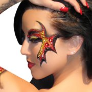 Demonic Eyes Decal Applique Xotic Eyes Costume for ShowGirls and Dancers