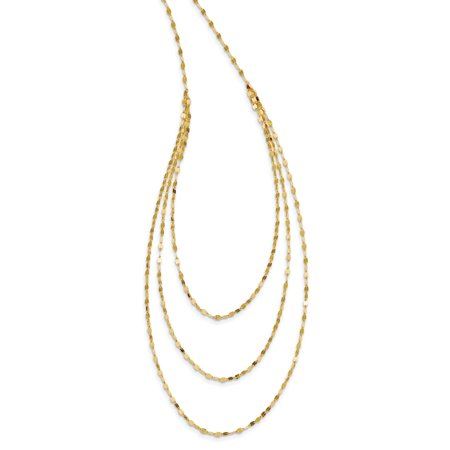 Roy Rose Jewelry 14K Yellow Gold Fancy Necklace ~ length: 19.5 inches