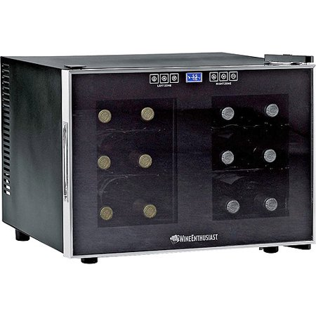 Wine Enthusiast 12 Bottle Dual Zone Free Standing