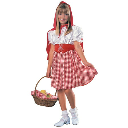 Red Riding Hood Classic Child Halloween Costume (Halloween Makeup Little Red Riding Hood)