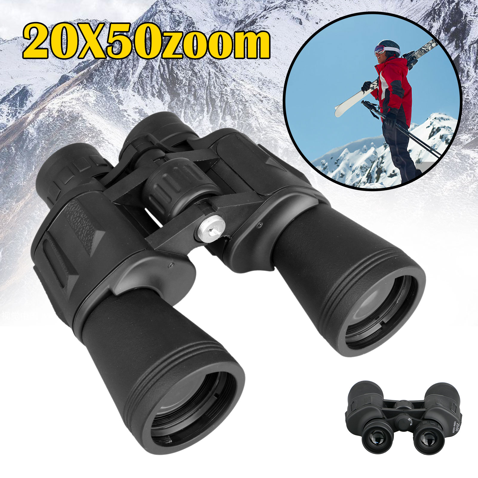 EEEkit 20x50 High Powered Binoculars with Weak Light Night Vision Waterproof Clear Bird Watching Great for Outdoor Sports Games, Travelling, Concerts, Hunting and Stargazing ect.