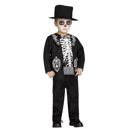 Toddler Boys Skeleton King Costume