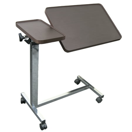 Medical Adjustable Overbed Bedside Tilt Table with Wheels (Hospital and Home Use)
