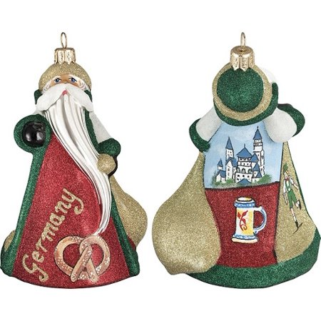 Germany German Santa with Castle Polish Glass Glitterazzi ...