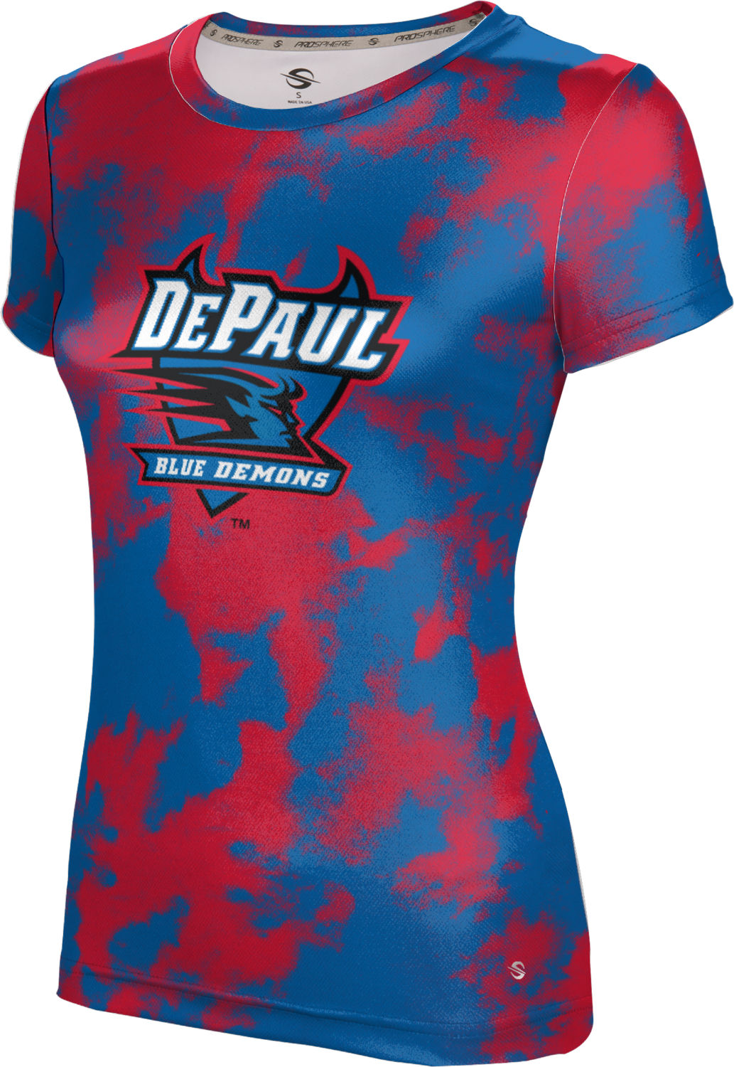 ProSphere Girls' DePaul University Grunge Tech Tee