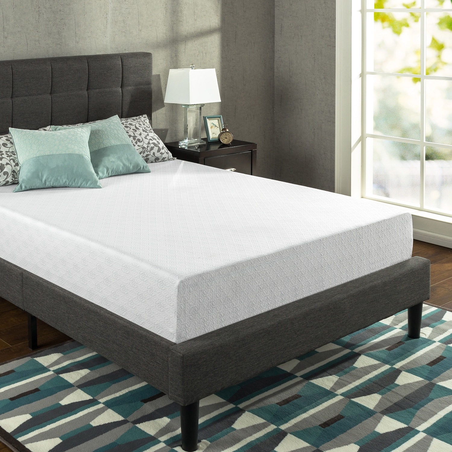 Priage  12-Inch King-Size Gel-infused Green Tea Memory Foam Mattress