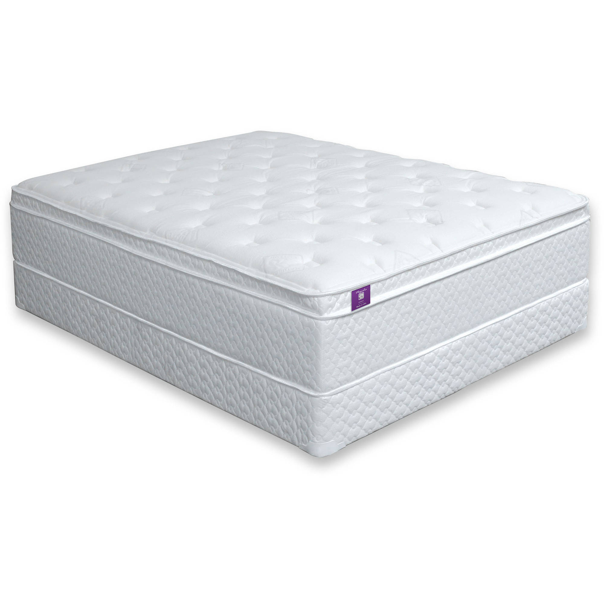 "miBasics Tulsa 16"" Euro Pillow-Top Mattress, Multiple Sizes"