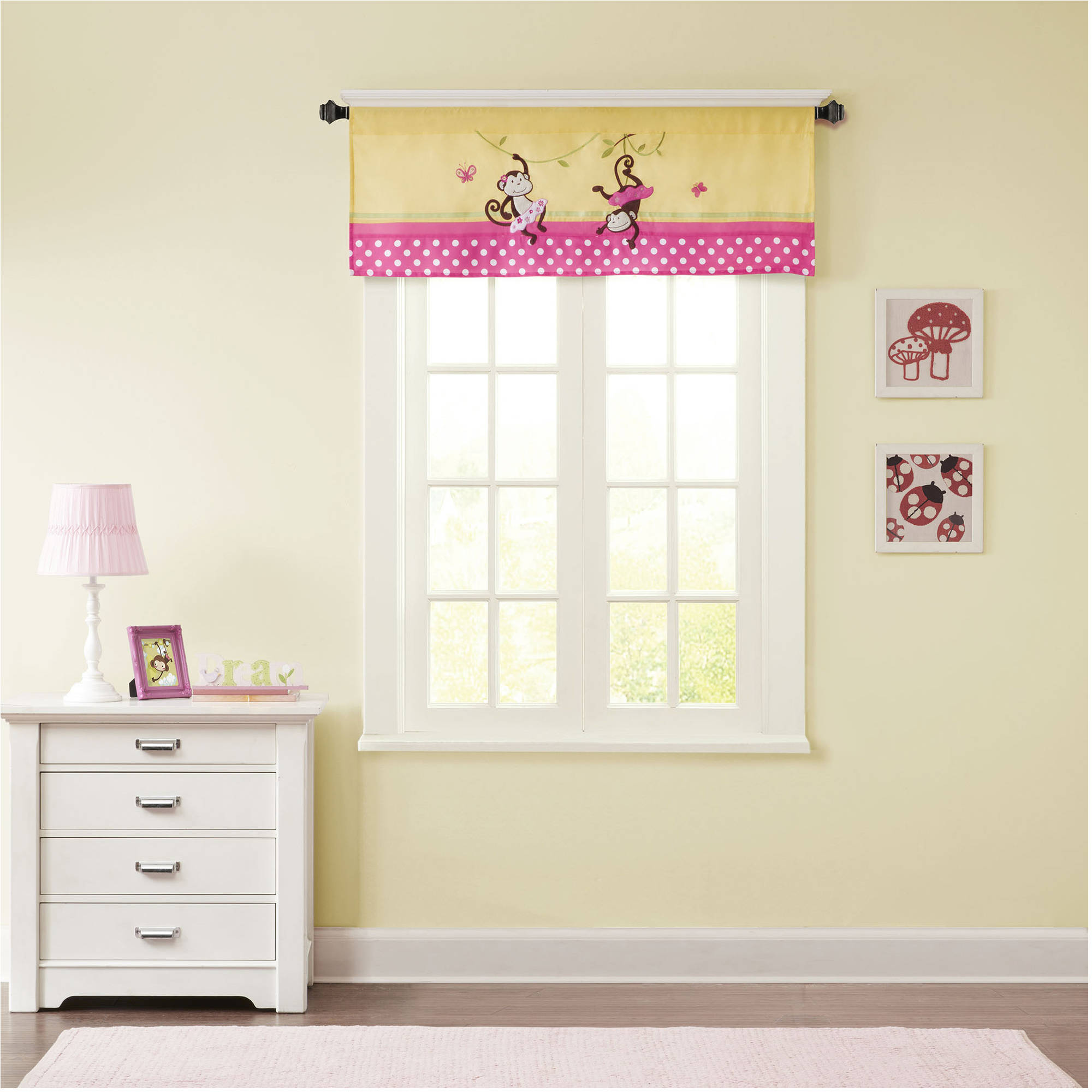 Home Essence Kids Monkey Maze Printed and Applique Valance