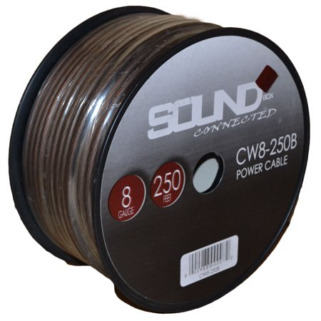 - SoundBox Connected 8 Gauge Black Power/Ground Wire, 250 Ft. Roll