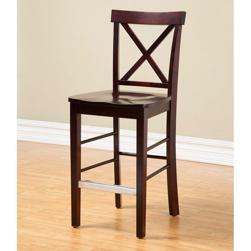 Alpine Furniture Bayview Counter Height Chairs - Dark Cherry - Set of 2