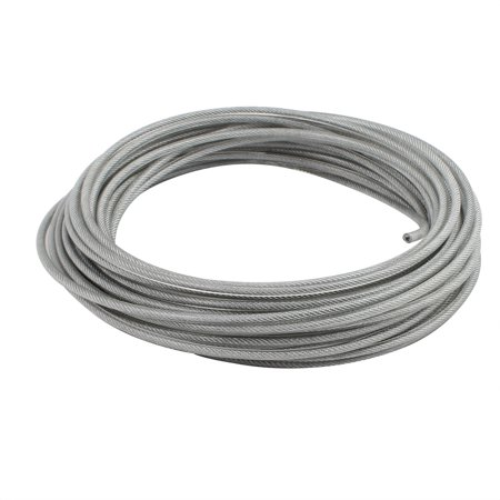 4mm Diameter Vinyl Coated Wire Rope Aircraft Cable 16 Meters Length