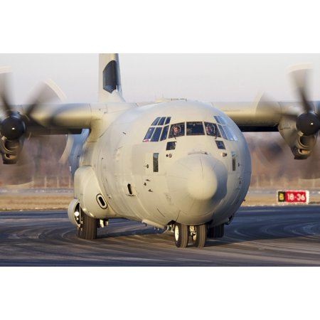 A Lockheed Martin C 130J 30 Hercules Of The Italian Air Force At Turin Airport Italy Poster Print