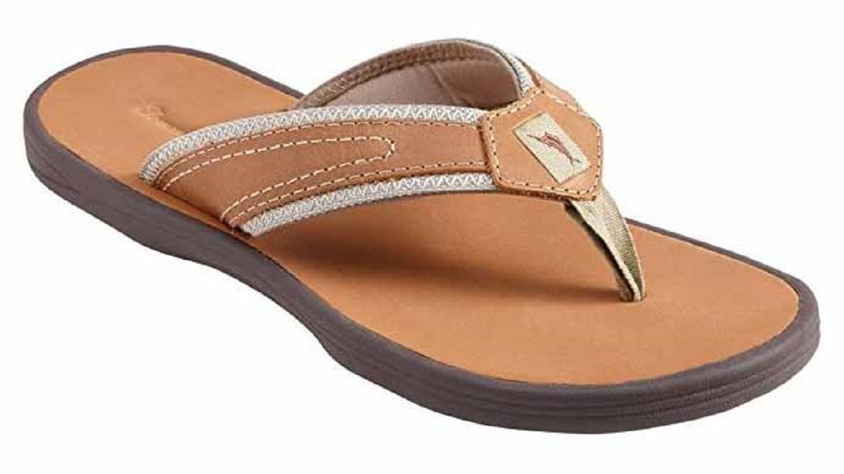 Tommy Bahama Men's Seawell Leather Sandals (Dark Brown, US 9 Width-D) by