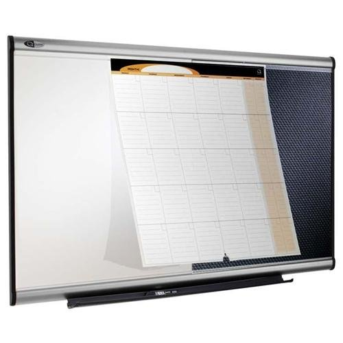 "Quartet Three-in-one Premium Combination Board - 24"" Height X 36"" Width - Black Foam Board Surface (CBD543A)"