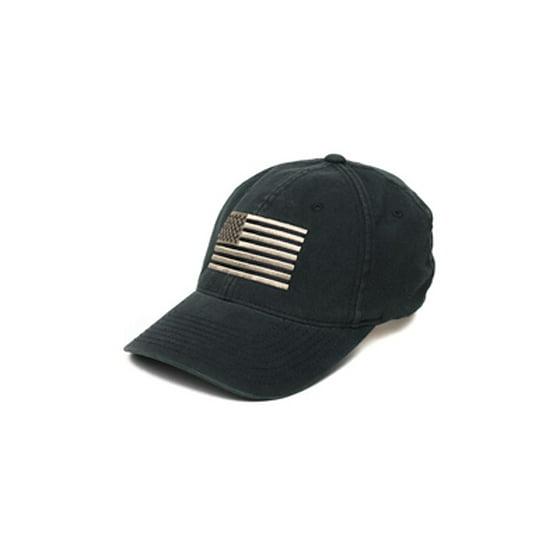 Pipe Hitters Union PC506BPEWLX Men s Black White American Flag Hat - Size  L XL - Walmart.com 9184a5986