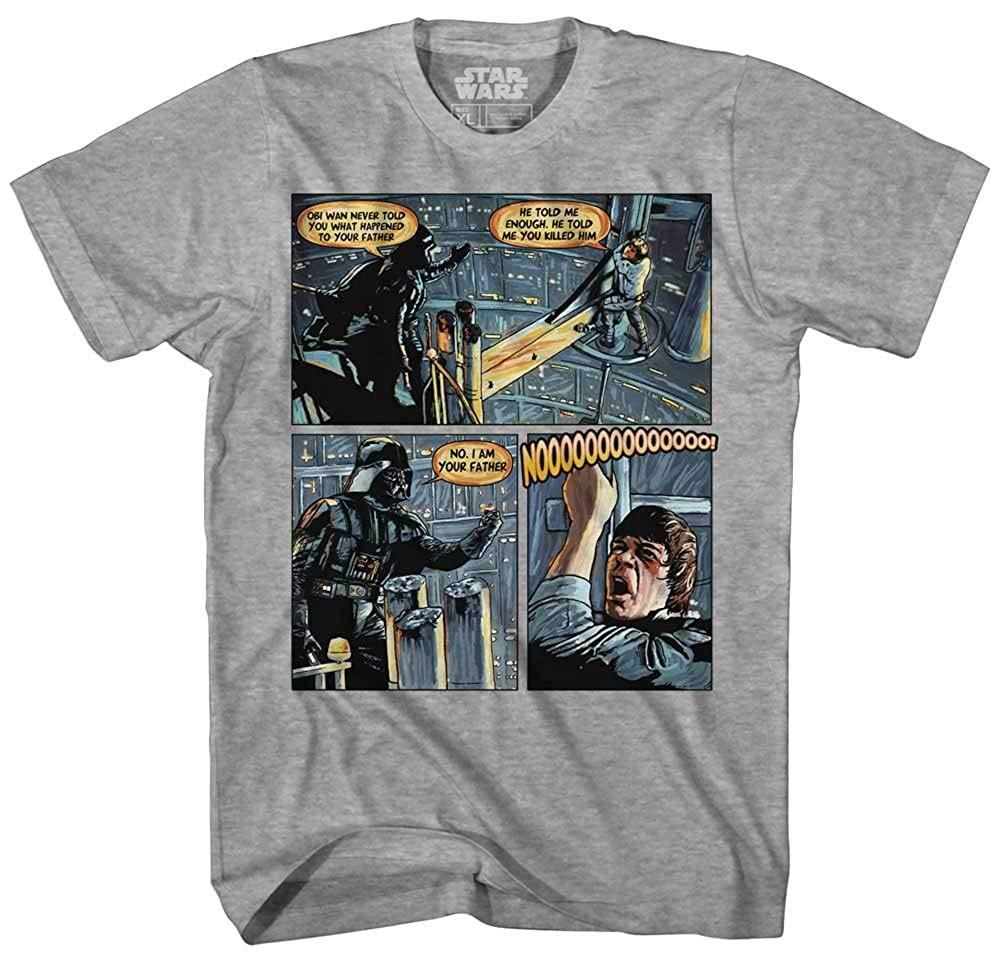Darth Vader Luke Skywalker I Am Your Father Comic Strip Mens Adult Graphic Tee T-Shirt Apparel