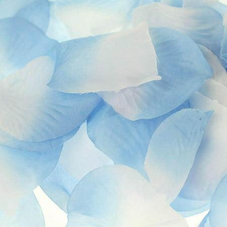 Two Tone Faux Rose Petals Table Confetti, 400-Piece, Light Blue