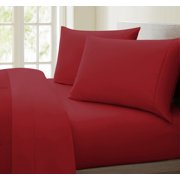 Luxurious Collection 1000 Thread Count 100% Cotton Sheet Set (King, Burgundy)