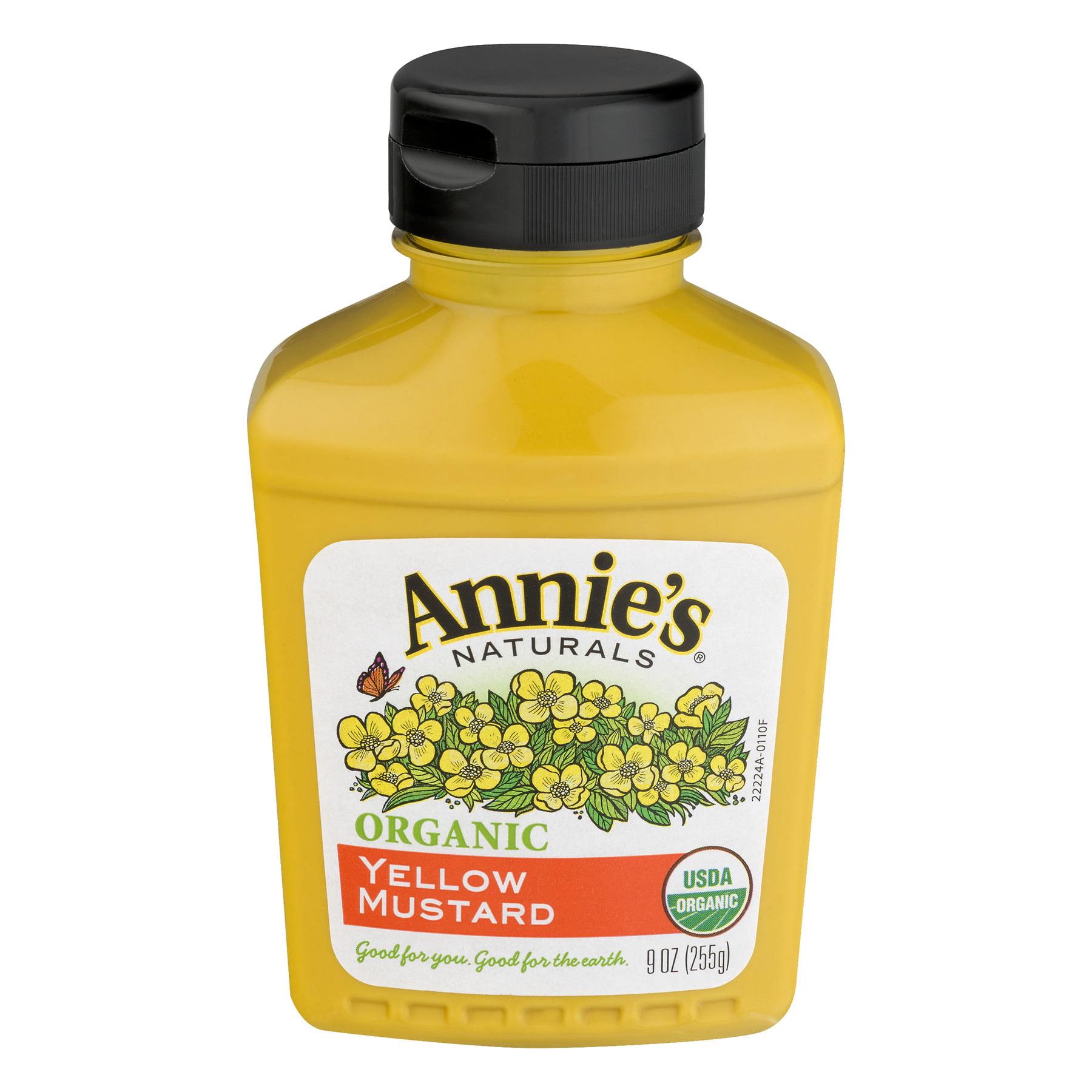 Annie's Organic Yellow Mustard, 9 oz Bottle