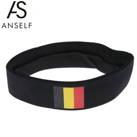 ANSELF Belgium Flag Headband Head Band Sweatband Cheering Squad Football Soccer Sports Fans Headwear Carnival Festival Costume
