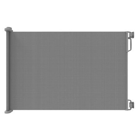 Perma Outdoor Retractable Gate, Extra Wide 71 in, Gray Hill Gate Outdoor Black Hanging