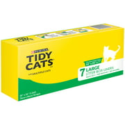 Purina Tidy Cats Litter Supply, Large Litter Box Liners for Multiple Cats, 7-Count Box
