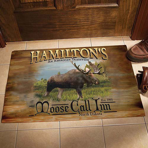"Personalized Moose Call Inn Doormat, 17"" x 27"""