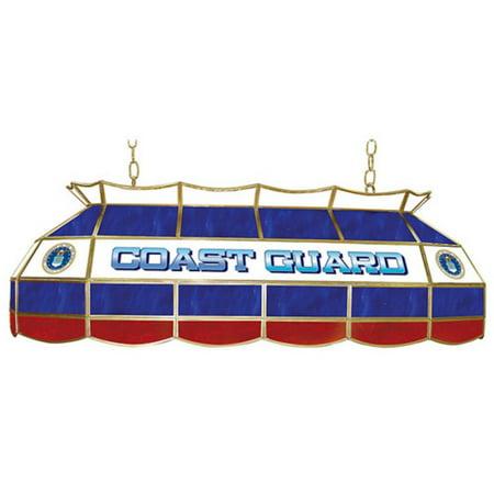 Trademark MIL4000-USCG U.S. Coast Guard 40 Inch Pool Table Light 40' Pool Table Tiffany Light