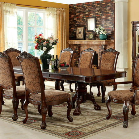 Traditional Wood Dining table in Brown Cromwell by Furniture of America