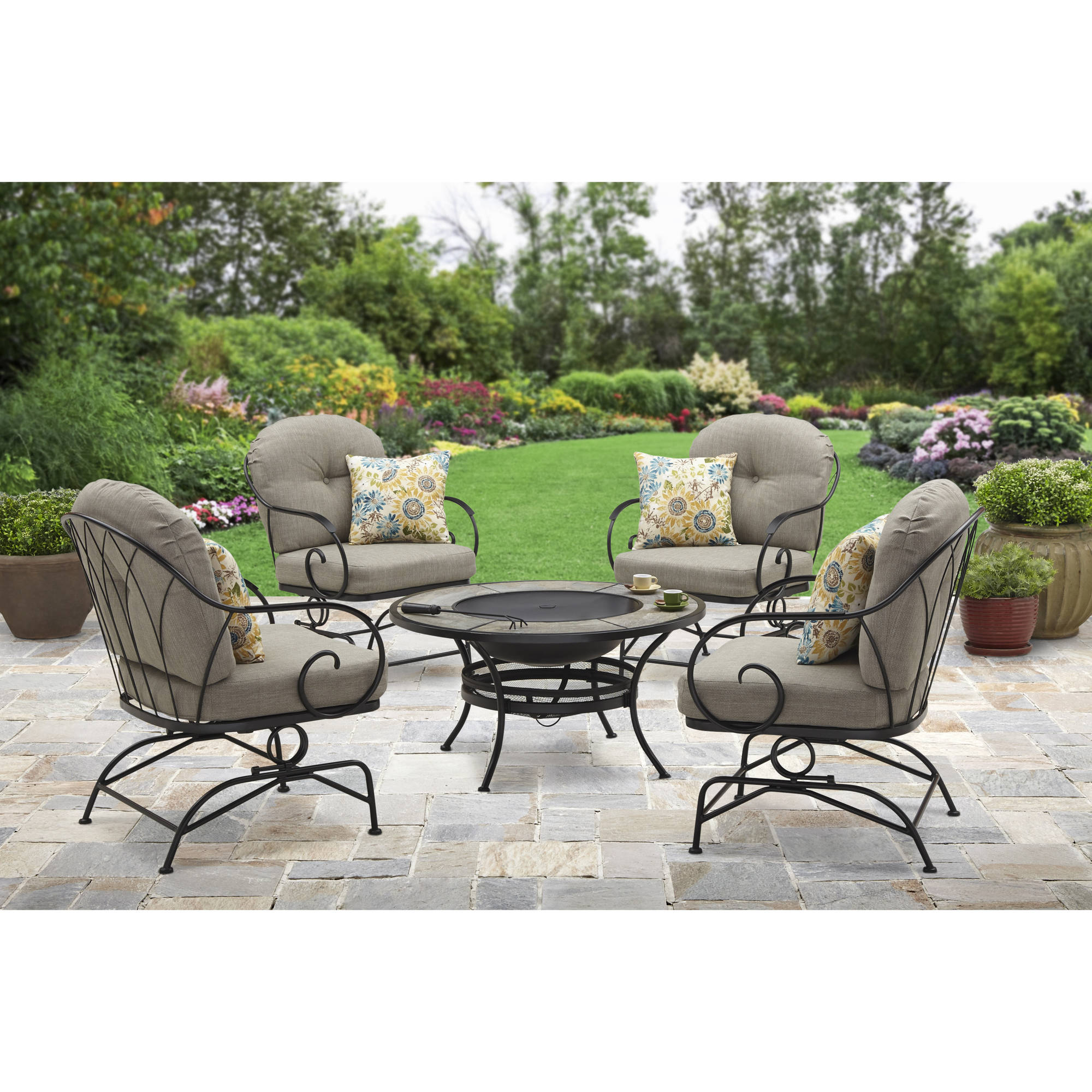 Better Homes And Gardens Myrtle Creek Outdoor Lounge Chairs, Set Of 4    Walmart.com
