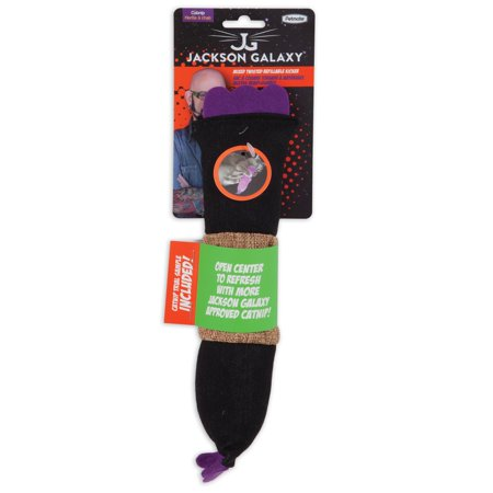 Petmate Jackson Galaxy Multicolored Polyester Refillable Twisted Kicker Toy with Catnip