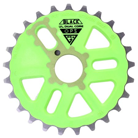 Black Ops Chainring 25T Micro Drive D/C Gn/