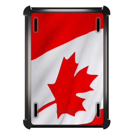 Custom Black Otterbox Defender Series Case For Apple Ipad Air 2  2014 Model    Red White Canadian Flag Canada