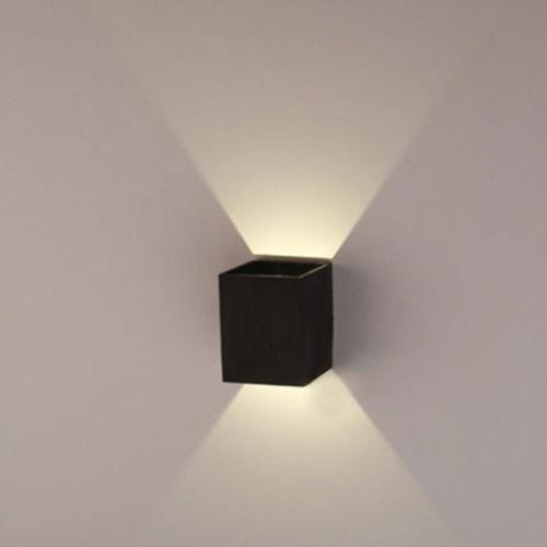 AGPtEK Indoor Energy Saving LED Soft Light Wall Lamp for Hallway Walkway Living Room Bedroom Hall Porch Black by