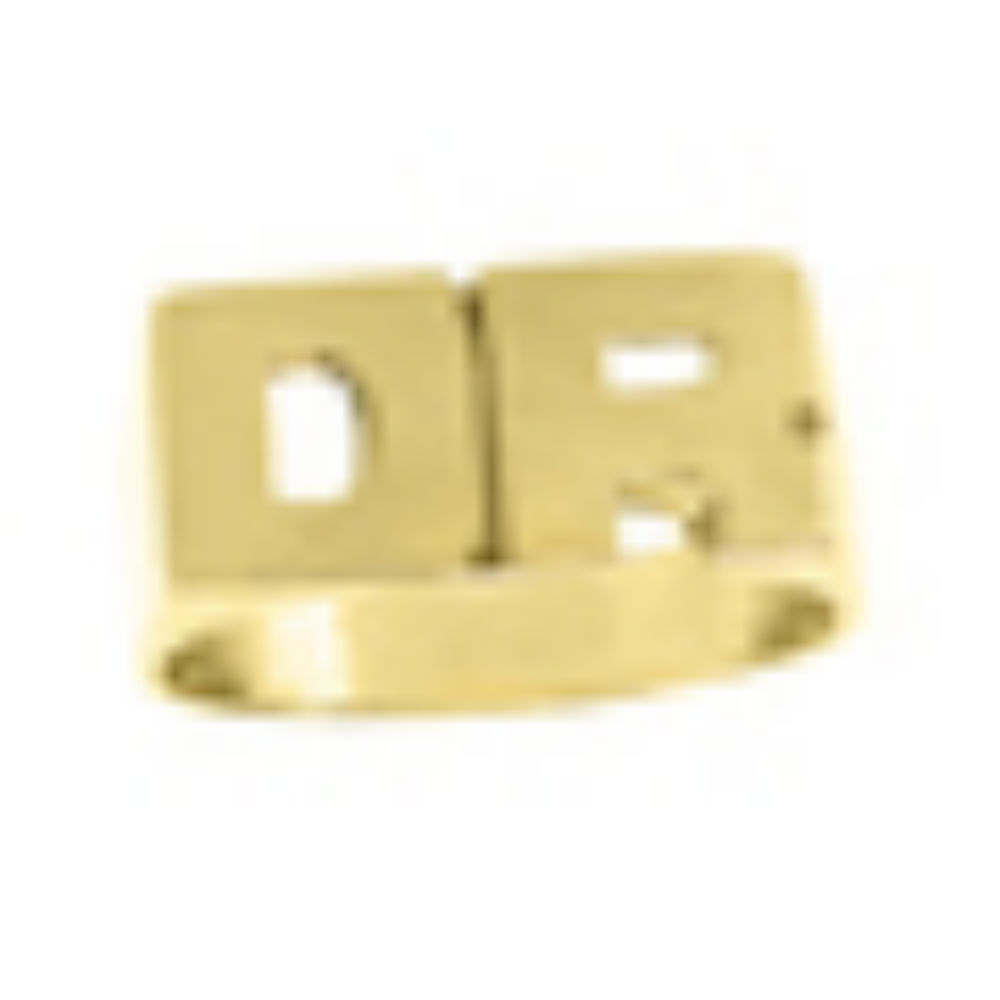 Personalized Initial Ring - Name Ring Unisex Block Style 8mm 14K Yellow or 14K White Gold. Special Order, Made to Order.